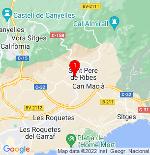 Google Map of Carrer Pare Claret 29, Sant Pere de Ribes, Barcelona, Spain