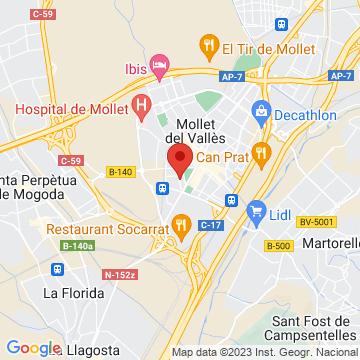 Google Map of Carrer de Marià Fortuny, 08100 Mollet del Vallès, Barcelona, Spain