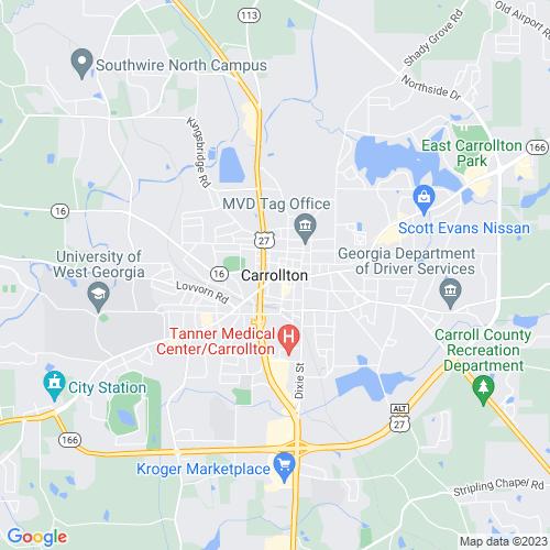 Map of Carrollton, GA