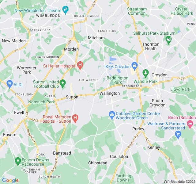 Website Designer Carshalton Google map of location