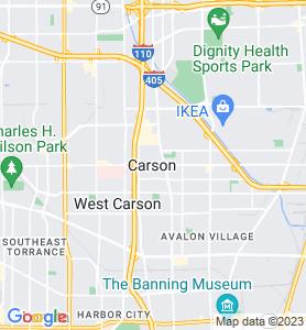 Carson CA Map