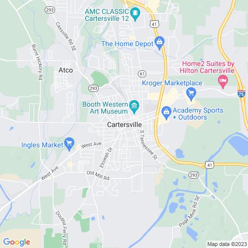 Map of Cartersville, GA