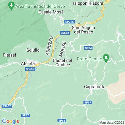 cartina Castel Del Giudice