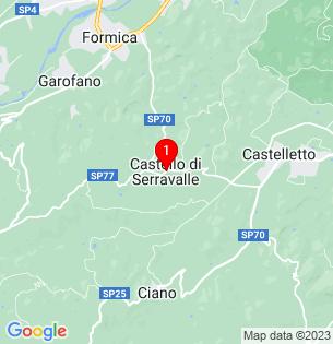 Google Map of Castello di Serravalle, Emilia-Romagna, Italy