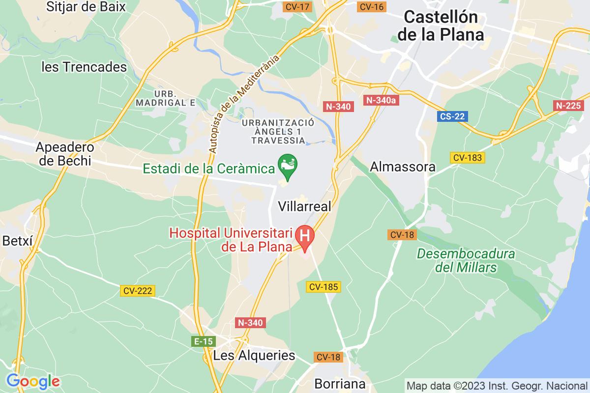 Mapa Castellon VILA-REAL/VILLARREAL
