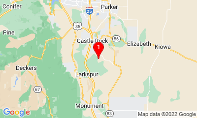 Google Map of Castle Rock, CO 80104, USA