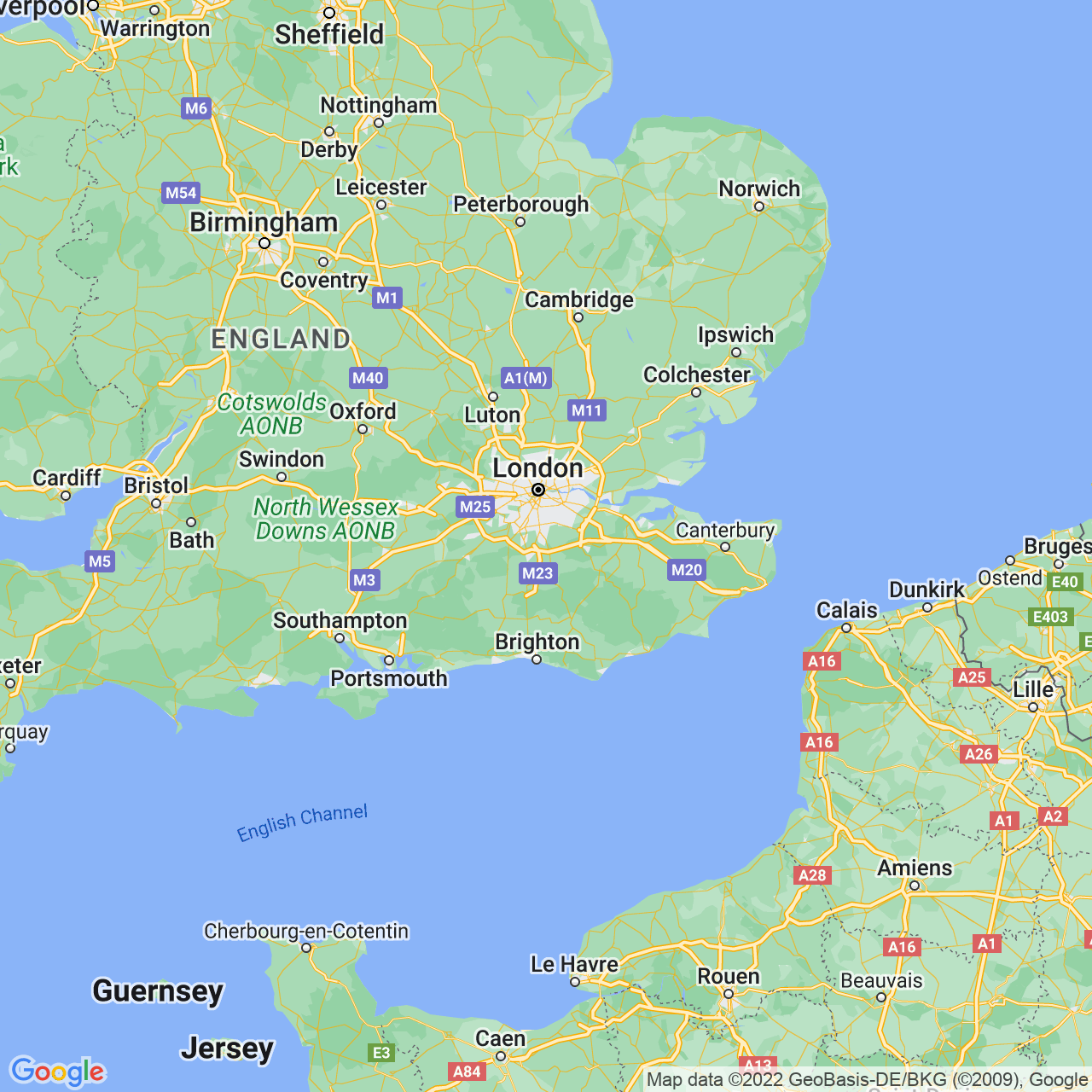 Caterham, England Map
