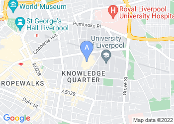 Map for Liverpool Metropolitan Cathedral