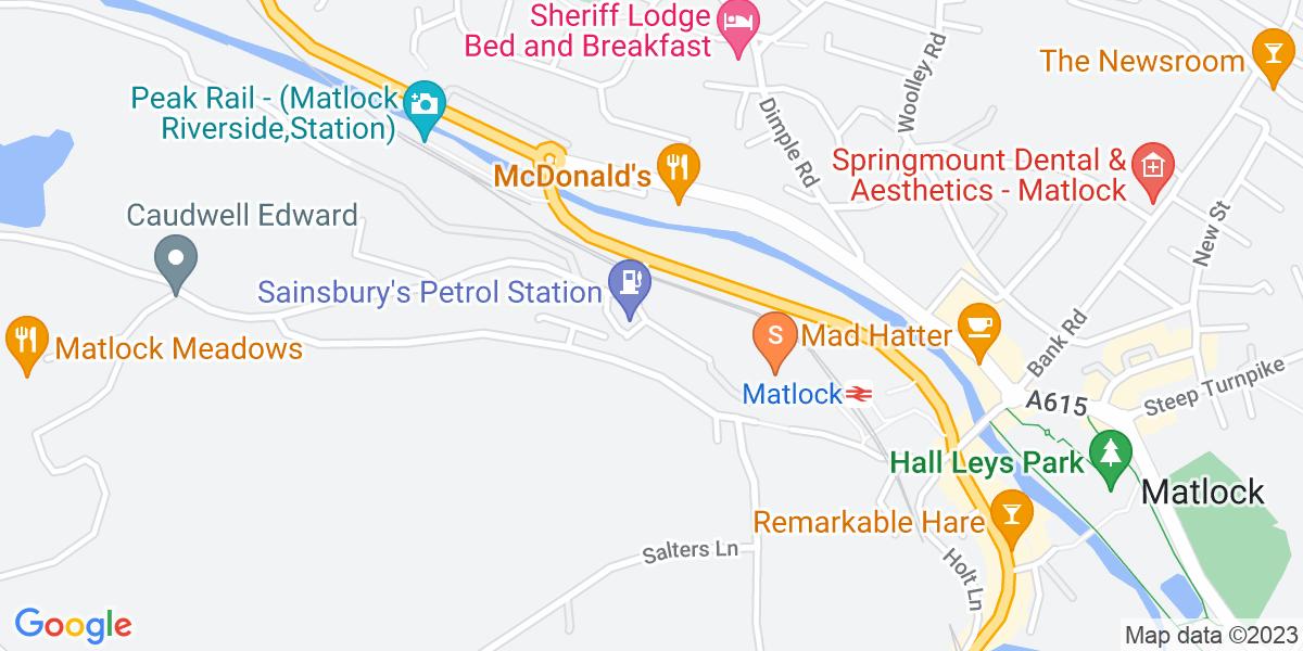 Google Map of Cawdor Way Matlock DE4 3SP