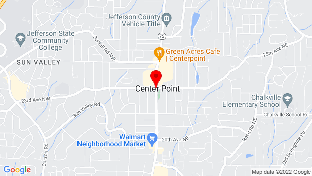 Google Map of Center Point Pkwy and 23rd Ave NE, Birmingham, AL 35215