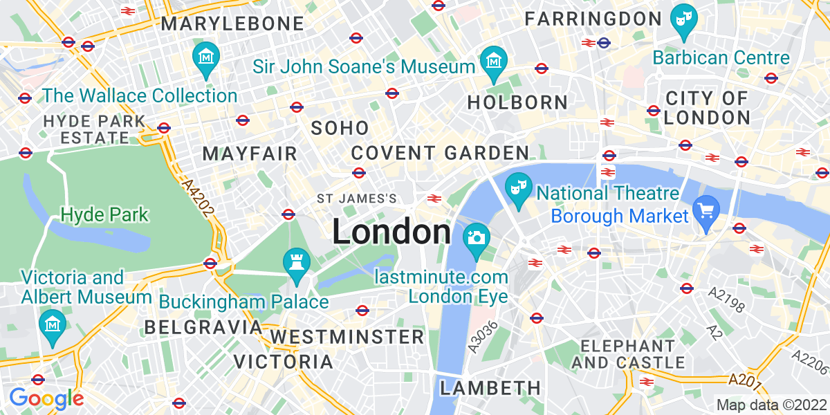Map: Legal Recruitment Consultant  position in Central London