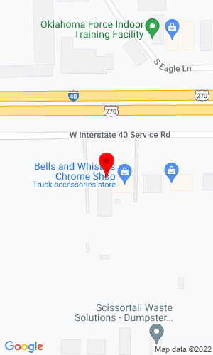 Google Map of Central New Holland Inc 8408 West I-40, Oklahoma City, OK, 73128