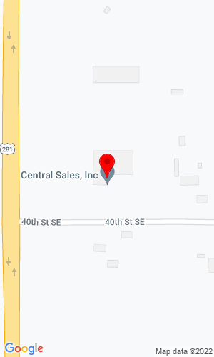 Google Map of Central Sales Inc 3976 Hwy 281 Se, Jamestown, ND, 58401,
