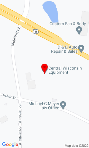 Google Map of Central WI Equipment 204 Industrial Drive Hwy 45, Marion, WI, 54950