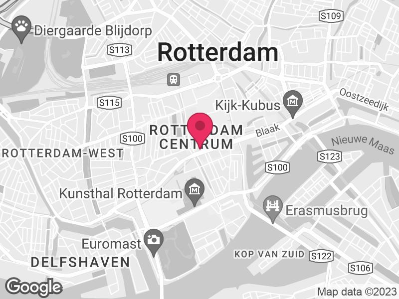 Google Map of Centrum voor Jeugd en Gezin Rijnmond Westblaak 171 3012 KJ Rotterdam