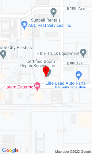 Google Map of Cerbo Crane 3702 7th Avenue East, Tampa, FL, 33605