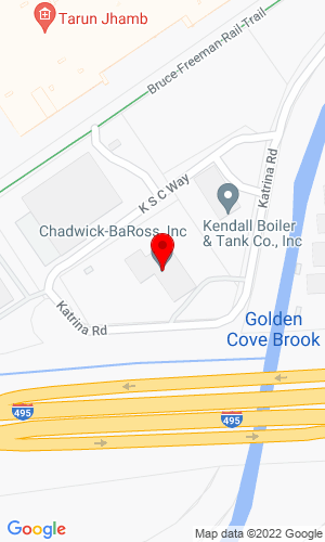 Google Map of Chadwick-BaRoss, Inc. 15 Katrina Road, Chelmsford, MA, 01824