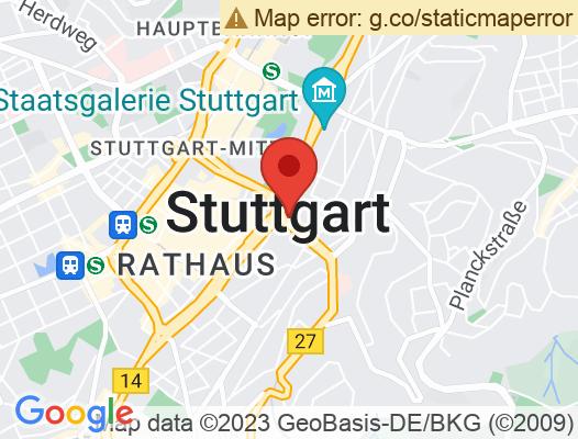 Google Map of Charlottenstraße 3 70182 Stuttgart
