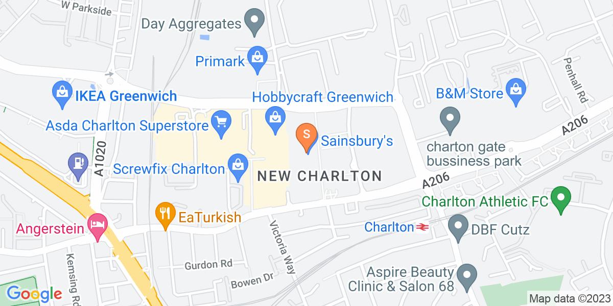 Google Map of Charlton Riverside Place7-11 Gallions Road London SE7 7ST
