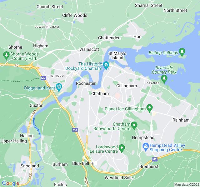 Website Designer Chatham Google map of location