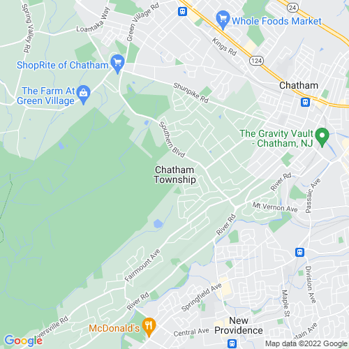 Map of Chatham, NJ