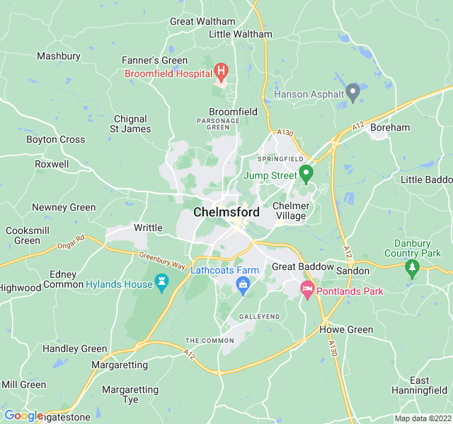 Website Designer Chelmsford Google map of location