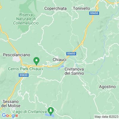 cartina Chiauci