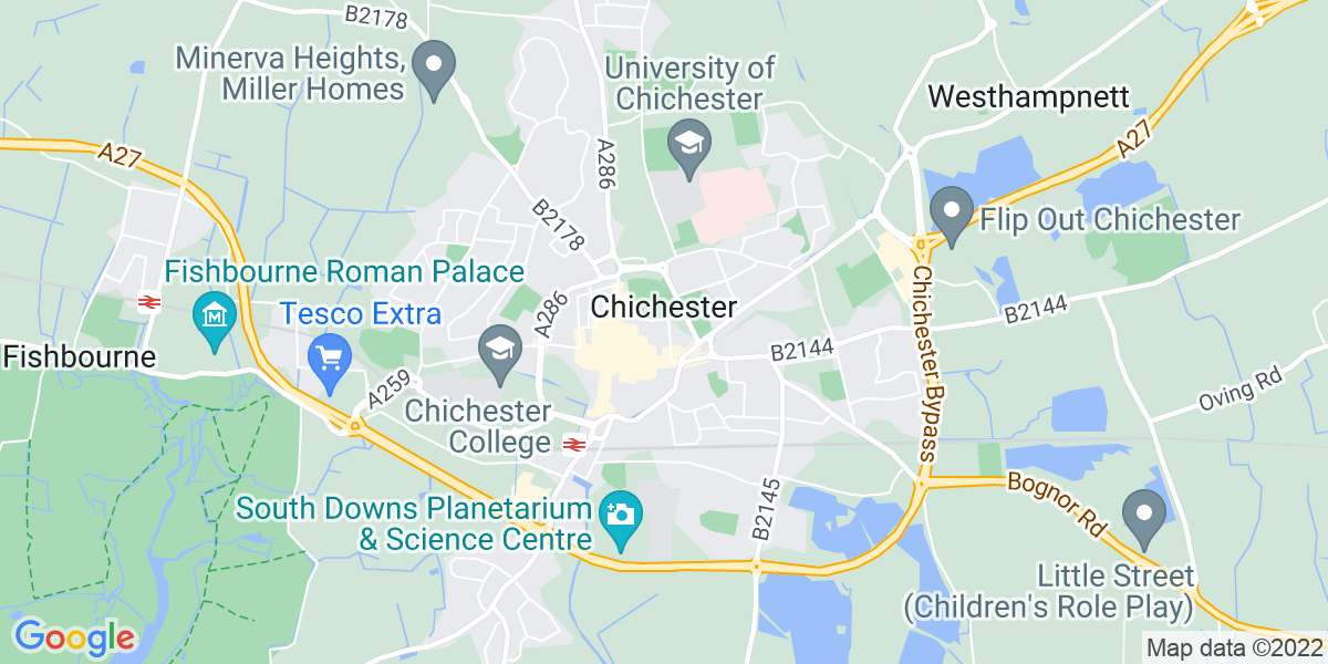 Map: Drama Teacher -  job role in Chichester