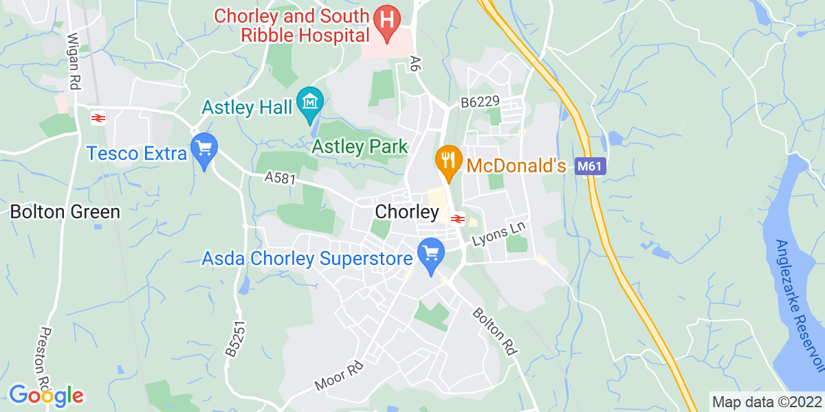 Map: Healthcare Assistant role in Chorley