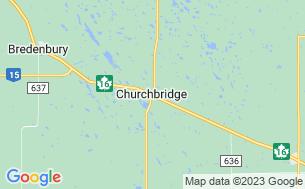 Map of Churchbridge Campground