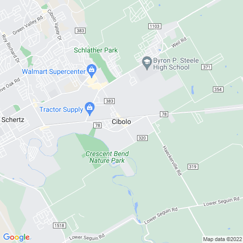 Map of Cibolo, TX