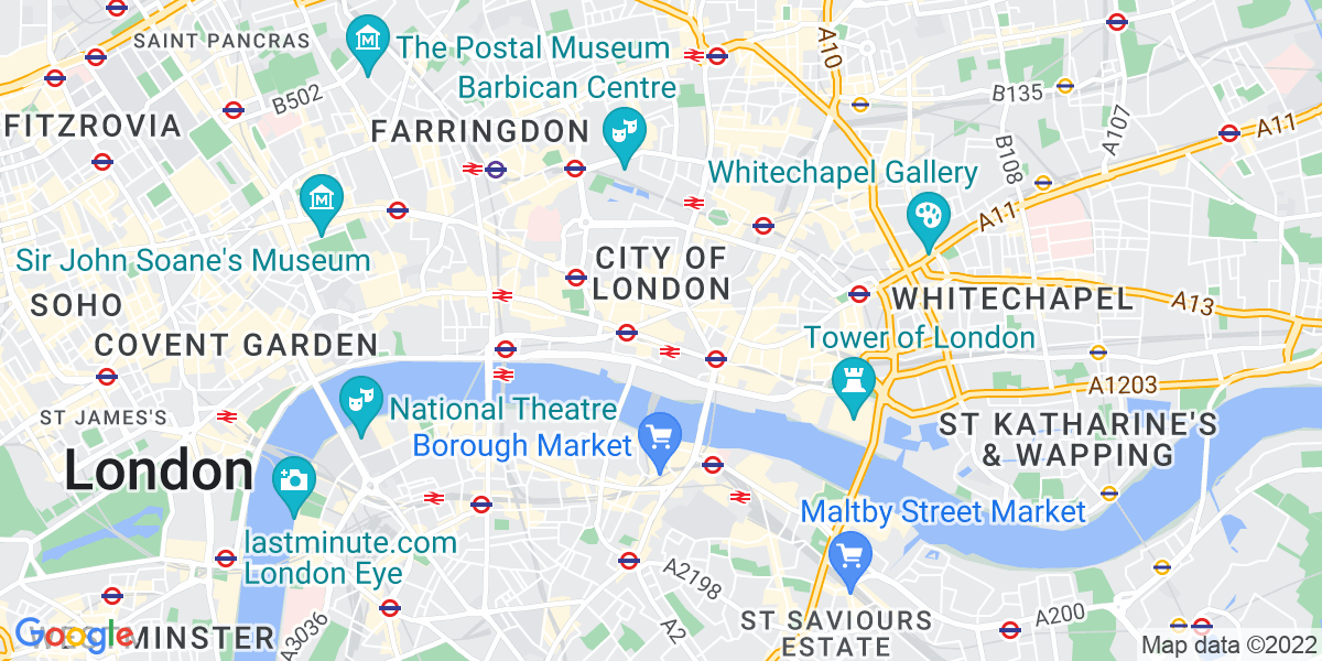 Map: Senior QA Engineer - London - Contract (6 months rolling) - £300-£500 p/d DOE position in City of London