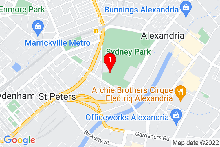 Google Map of City of Sydney Sydney Park Nursery Depot