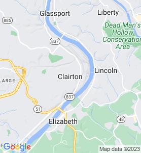 Clairton PA Map