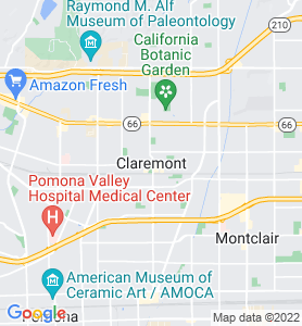 Claremont CA Map