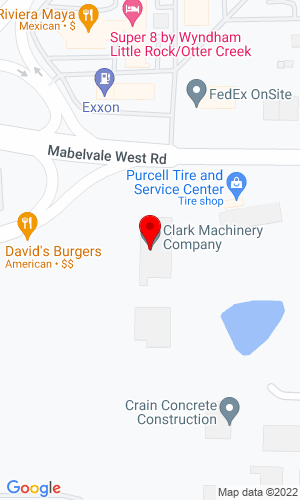 Google Map of Clark Machinery Co 11525 Mabelvale Rd W, Mabelvale, AR, 72103
