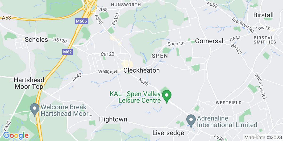 Map: .NET Developer, Graduate / Junior -  job role in Cleckheaton