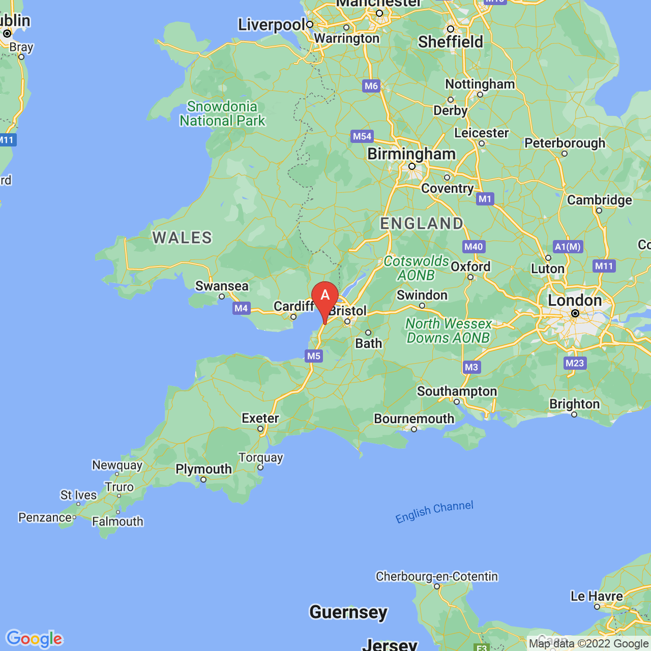 Clevedon, England Map