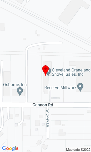 Google Map of Cleveland Crane & Shovel Sales, Inc. 26781 Cannon Road, Cleveland, OH, 44146