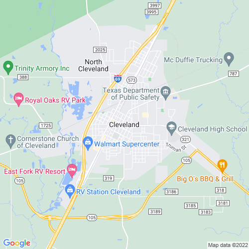 Map of Cleveland, TX