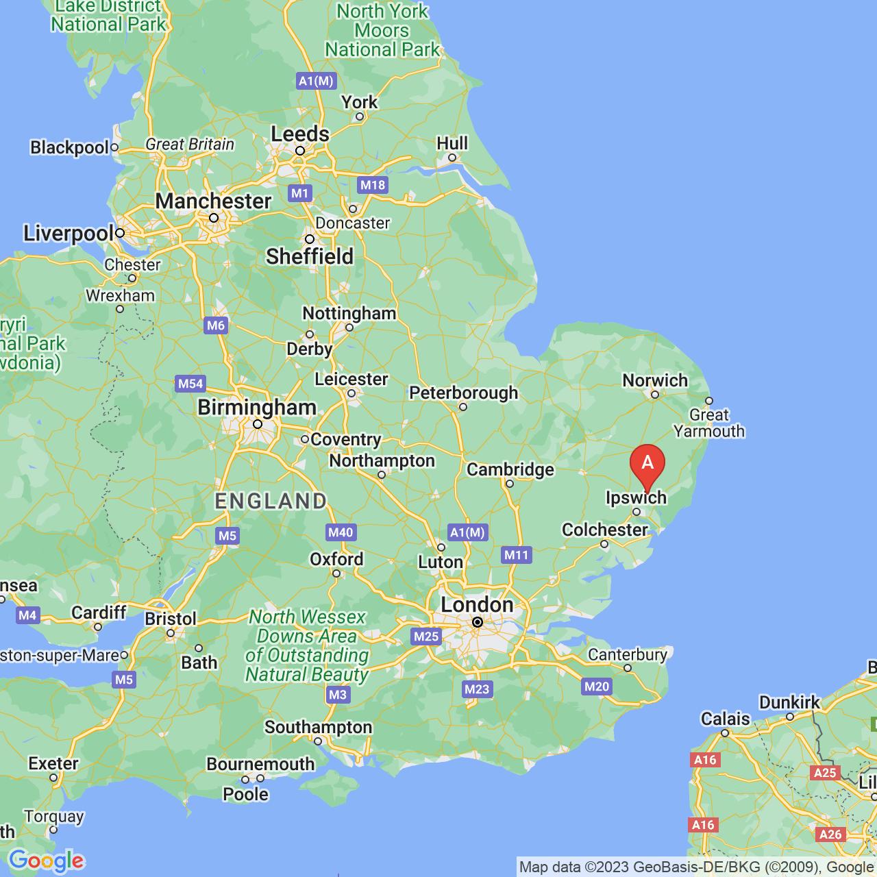 Clopton, England Map