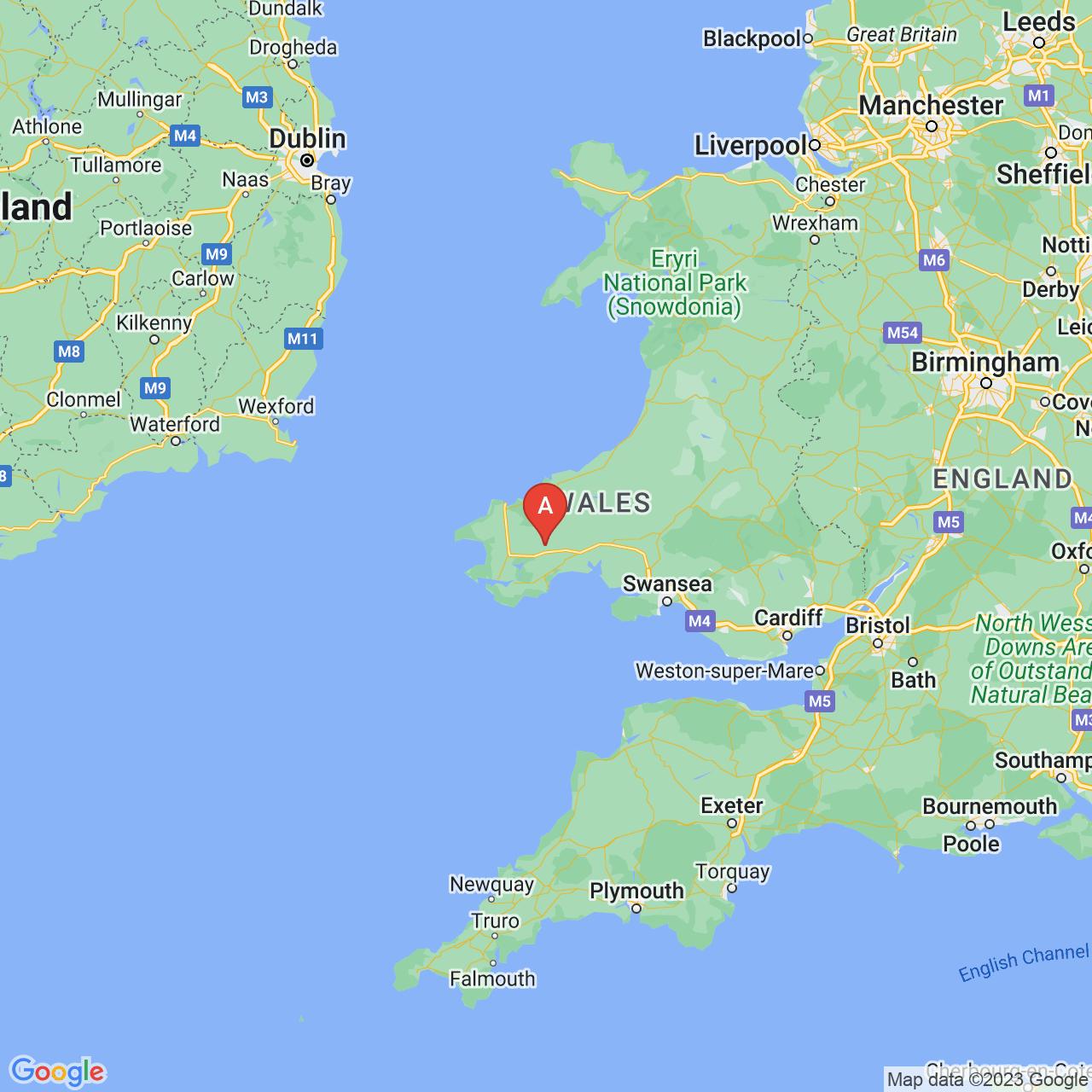Clynderwen, Wales Map