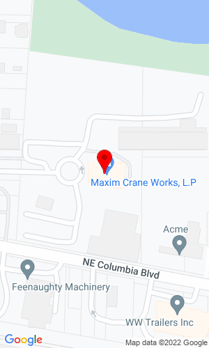 Google Map of Coast Crane 1601 NE Columbia Blvd, Portland, OR, 97211
