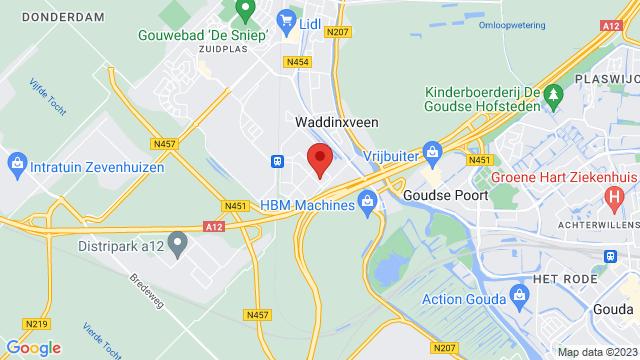 Gouda%2F+Waddinxveen op Google Maps