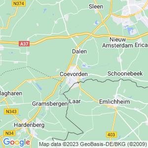 Werkgebied van onze bestrijder in Coevorden