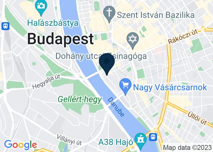 Map of Colabs Buda 1056 Budapest, Irányi utca 3, Hungary