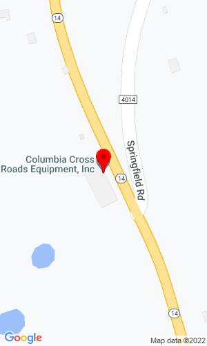 Google Map of Columbia Cross Roads Equipment 24213 Route 14, Columbia Cross Roads, PA, 16914