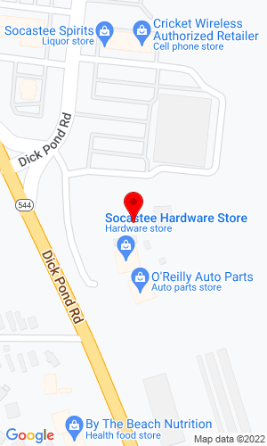Google Map of Comeback Rentals 4880 Dick Pond Road, Myrtle Beach, SC, 29588