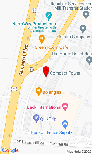 Google Map of Compact Power Equipment 3326 Highway 51, Fort Mill, SC, 29715,