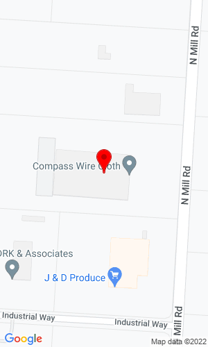 Google Map of Compass Wire Cloth Corp. 1942 N Mill Road, Vineland, NJ, 08360,
